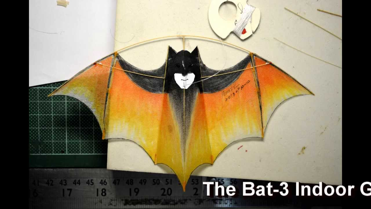 The bat 3 indoor glider kite for aka auction at oct 2013 for Indoor kite design