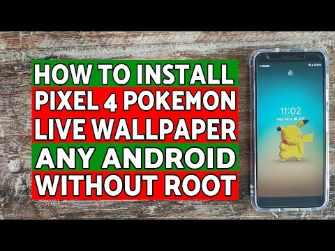 Install Pixel 4 Pokemon Live Wallpaper On Any Android Without Root