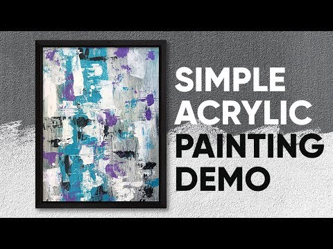 Simple Abstract Acrylic Art Demo / Easy Daily Art / Painting Tutorial / Relaxing / 029 thumbnail