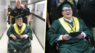 Hospital Transports Teen Patient to Graduation Ceremony