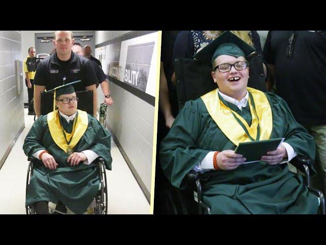 Hospital Transports Teen Patient to Graduation Ceremony