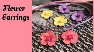 עגילי פרחים מפימו