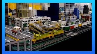 lego trains at nmra 2013 massive lego city layouts toy train