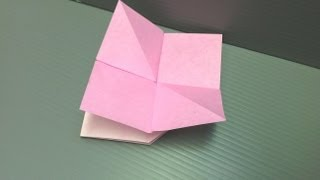 Daily Origami: 161 - Evening Primrose