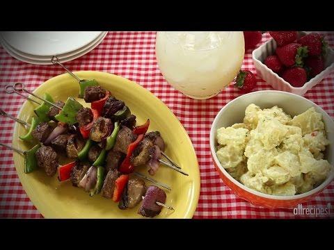 How to Make Mom's Beef Shish Kabobs   Beef Recipes   Allrecipes.com