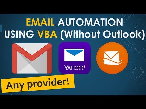 Email Automation using VBA. Use GMAIL, Yahoo, Microsoft etc.