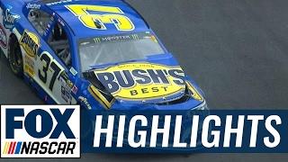 Chris Buescher and Kurt Busch Wreck Early | 2017 BRISTOL | FOX NASCAR