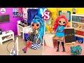 ОТЛИЧНица vs ТРОЕЧница! Миниатюрные идеи для Куклы Лол Сюрприз своими руками видео