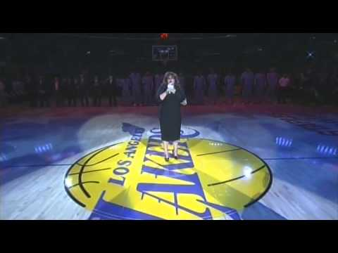 Lydia Ranger doing the National Anthem for the Lak...