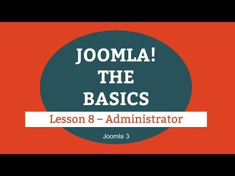 Joomla 3 Tutorial - Lesson 08 - Administrator