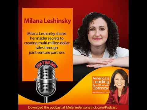 [Small Business Optimizer] Secret to Profitable JVs with Milana Leshinsky