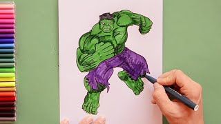 How to draw Hulk - Marvel Avengers Characters