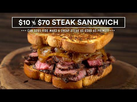 $10 GARLIC Bread STEAK Sandwich vs $70
