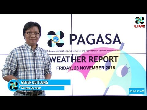 Public Weather Forecast Issued at 4:00 AM November 23, 2018