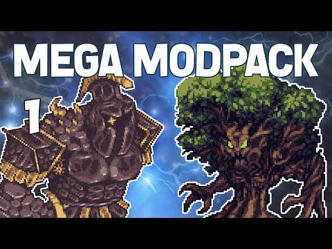 Terraria # 1 HUGE CUSTOM MODPACK! Mega Modpack Let's Play
