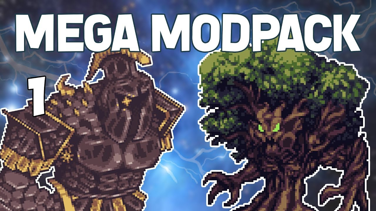 Terraria # 1 HUGE CUSTOM MODPACK! Mega Modpack Let's Play