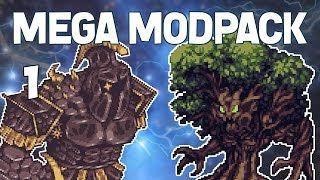 terraria 1 huge custom modpack mega modpack lets play