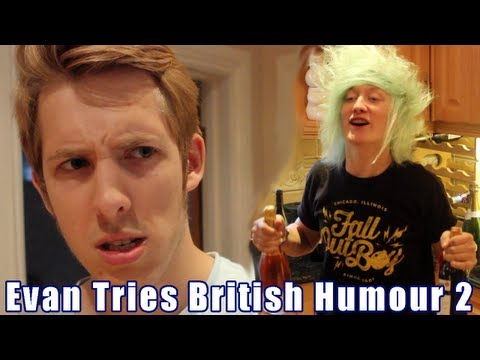 EVAN TRIES BRITISH HUMOUR 2 | Evan Edinger ft. Veeoneeye