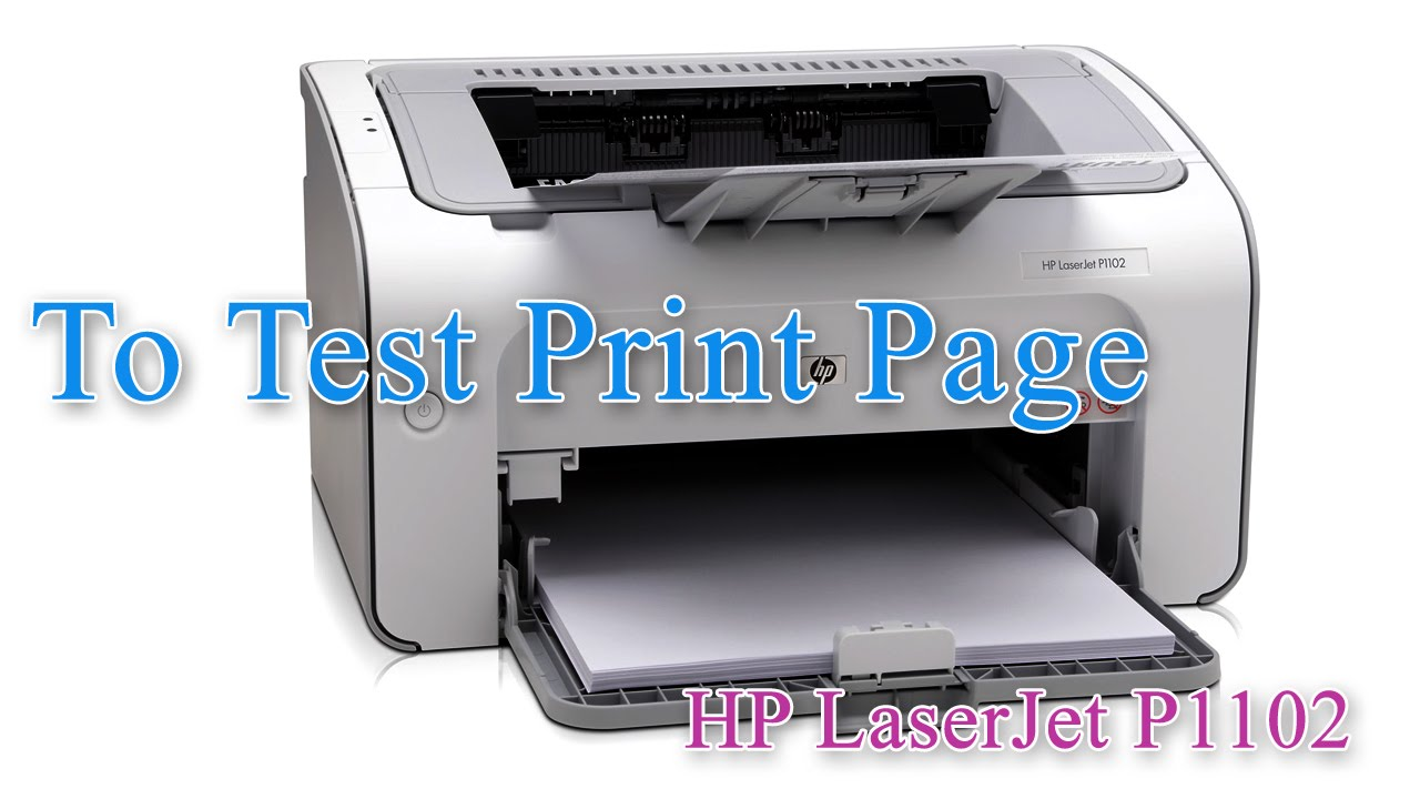 hp laserjet professional p1102 test print page youtube