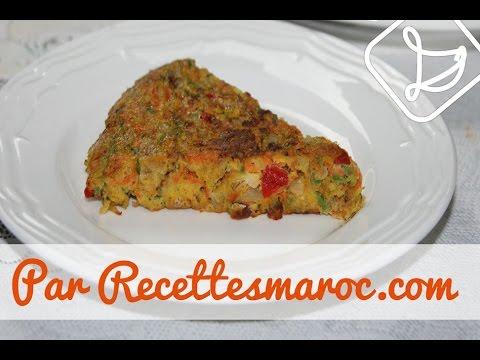 Tortilla Végétarienne - Easy Vegetarian Tortilla - طرطية صحية بالخضر