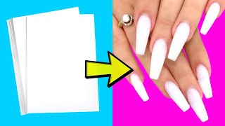 16 AWESOME NAIL HACKS YOU WILL DEFINITELY LIKE - 5 Minute Crafts