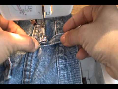 Costura Presillas De PantalonReciclando Jeans Como Arreglar Facil 80mNwn