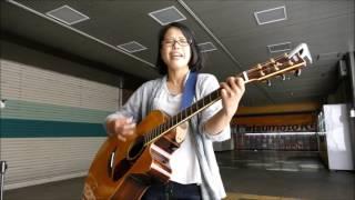 2017/06/03(土)柏駅東口ダブルデッキで行われた「りさ」さんの路上ライ...