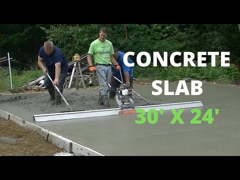Pouring A Concrete Slab For A New Garage (30' x 24') Form & Pour