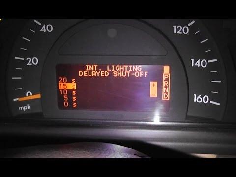 Mercedes W203 Регулировка подсветки салона / Выключение плафона после  выключения двигателя W203