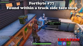 Fortbyte #77 - Found within a track side taco shop LOCATION