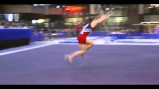 Floor exercise - double salto bwd tusked with 2.5 twist (E)
