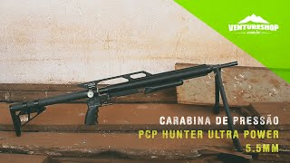 Review Teste Carabina de Pressão PCP Hunter Ultra Power 5.5mm