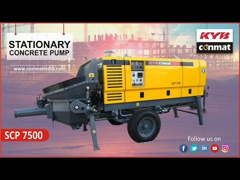 KYB Conmat - Stationary Concrete Pump (SCP 7500)