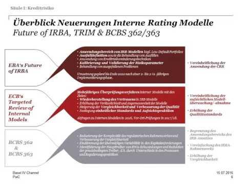 German Basel IV-Channel, Use of Internal Models, 15.Juli 2016