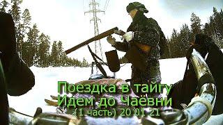 Поездка в тайгу идем до Чаёвни 1 часть 20 01 21