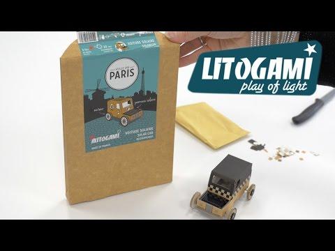 Autogami Paris - La voiture en carton à énergie solaire