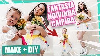 FANTASIA NOIVINHA CAIPIRA - MÃE E FILHA BEBÊ | Kathy Castricini