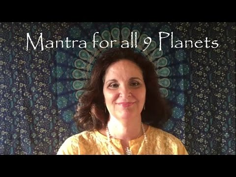 Mantra combining the energy of all 9 planets: