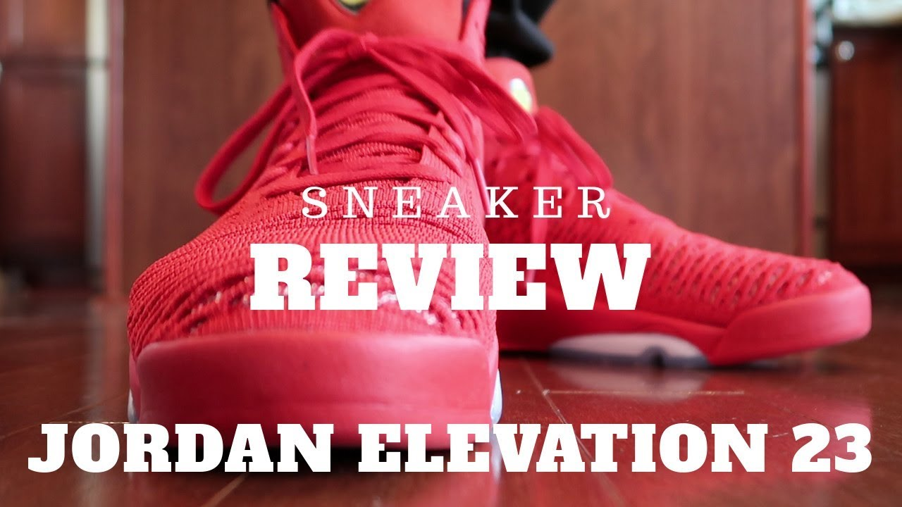 100% authentic 08528 85adf Jordan Flyknit Elevation 23 Review (University Red) - YouTube