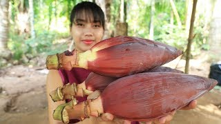 Yummy cooking banana flower with pork recipe - Cooking skill