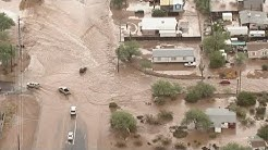 Heavy rain causes flooding in Apache Junction and east Mesa