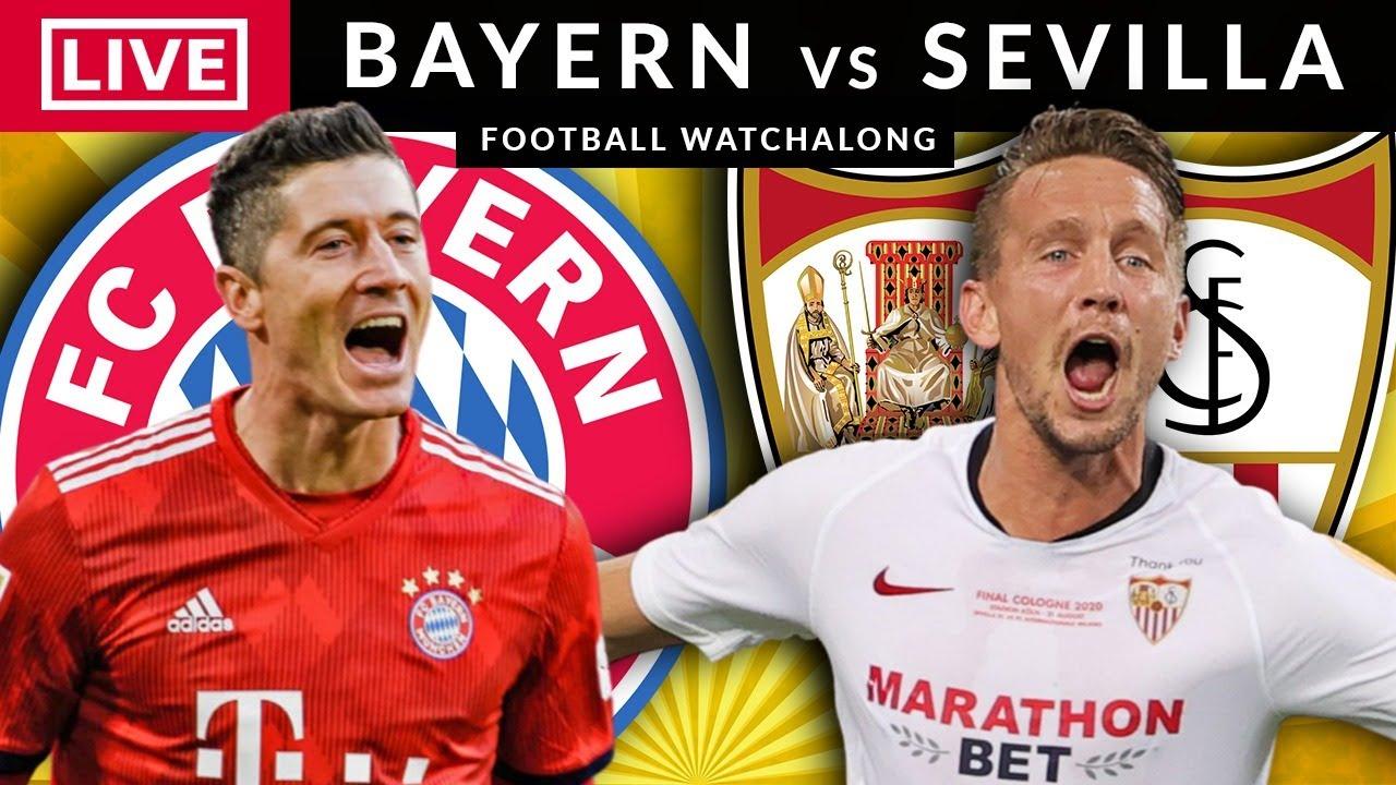 BAYERN MUNICH vs SEVILLA - LIVE STREAMING - Super Cup - Football Watchalong