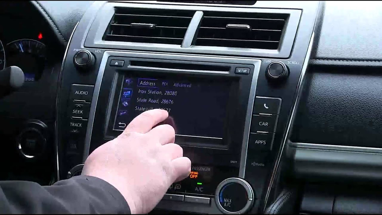 Using Gps Navigation In The All New 2017 Toyota Camry