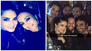 Sunny leone parties with hubby daniel, ameesha patel & others