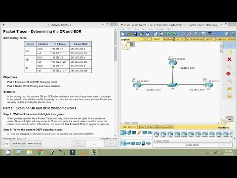 10.1.1.12 Packet Tracer - Determining the DR and BDR