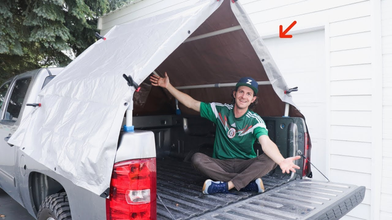 Diy Truck Bed Tent Truck Camping Youtube