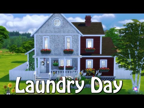 The Sims 4: Speed Build // LAUNDRY DAY // NO CC
