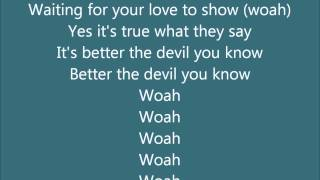 Better The Devil You Know Steps Karaoke with backing vocals [Official]