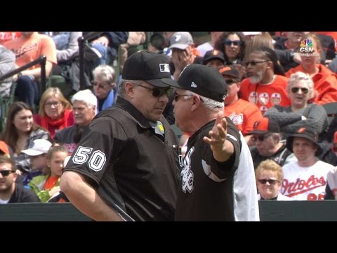 CWS@BAL: Manager Renteria gets ejected from the game