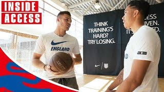 Jack Butland Shoots Hoops Against Craig Mitch! | Glove and Basketball | World Cup 2018